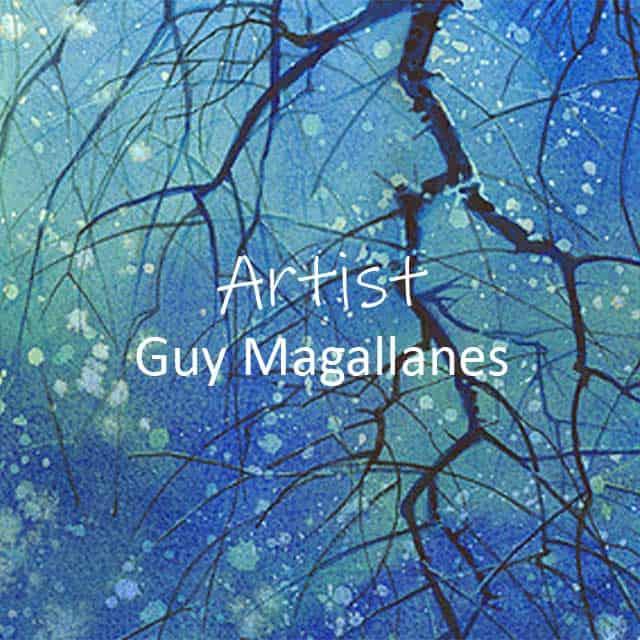 Artist Guy Magallanes, watercolour artist