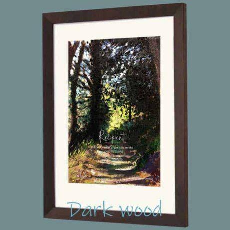 Buy a dark wood framed certificate