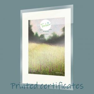 Buy a printed and mounted Treelover certificate.