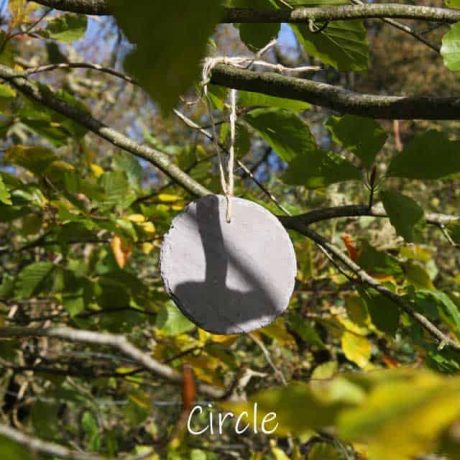 Disc of Welsh reclaimed slate tag