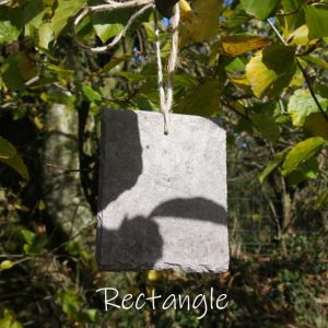 Engrave a rectangle slate treetag with your personal message