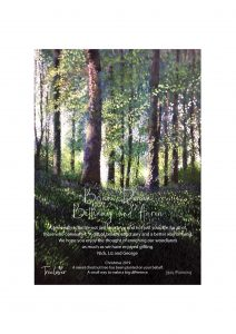 Art certificate for tree planting as a gift.